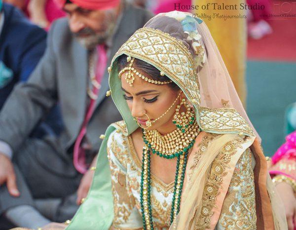 Bridal makeup and hair at the Glen Cove Gurudwara
