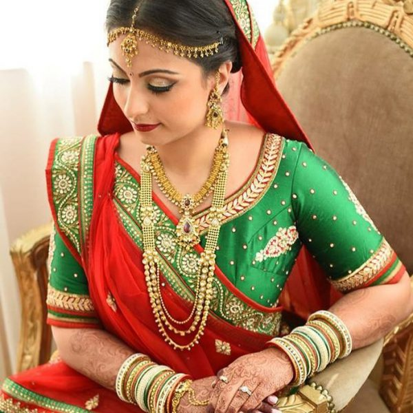 Indian bridal makeup and hair at Leonard's Palazzo in Great Neck, NY