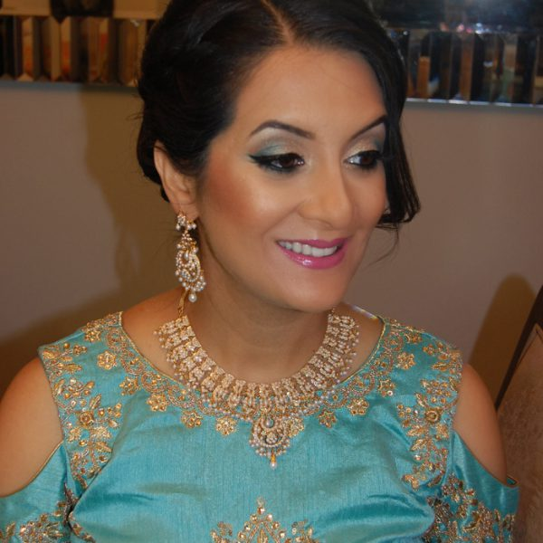 Our lovely mama-to-be on the day of her baby shower - makeup and hair by Naz Beauty