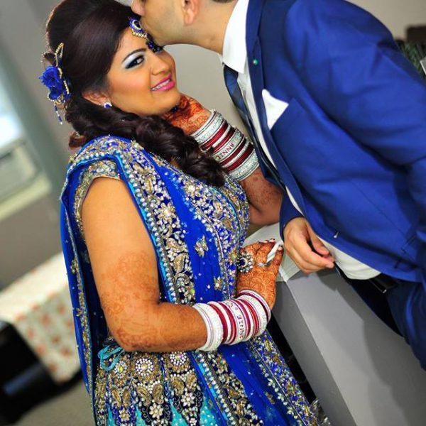 Indian reception hair and makeup