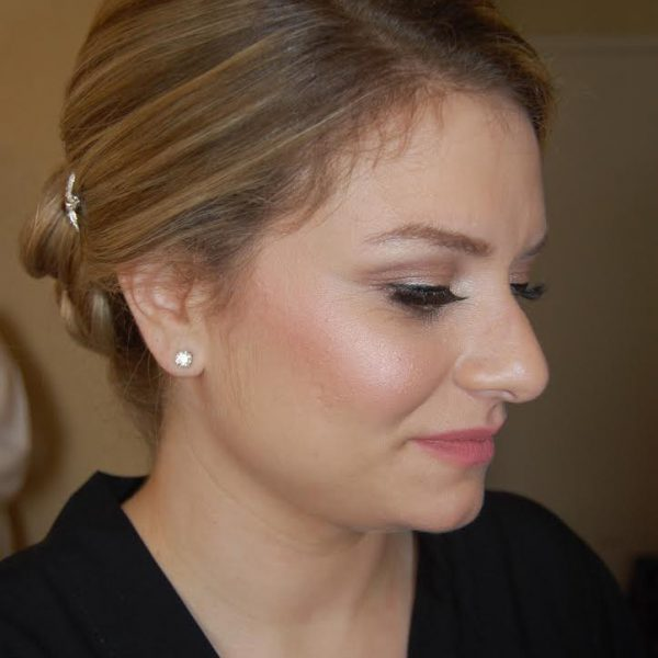 Bridesmaid with natural makeup at Atlantic Beach, NY - wedding party makeup and hair by Naz Beauty