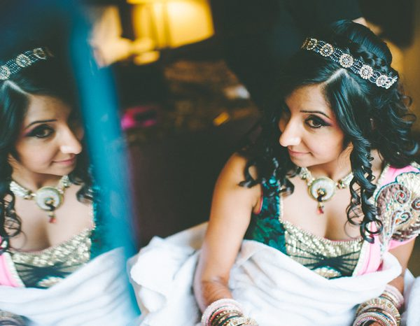 Sangeet bridal hair and makeup for Connecticut bride