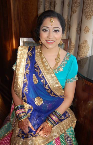 Sangeet bridal hair and makeup in Connecticut