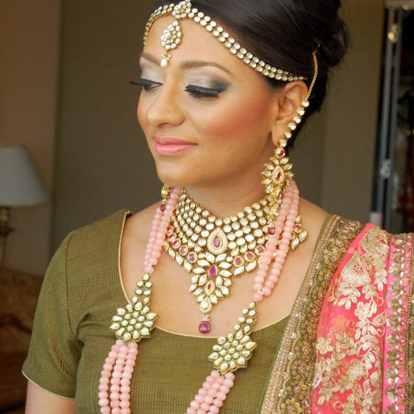 Bridal makeup and hair for Sikh bride in NJ