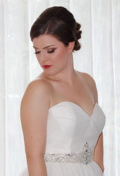 Bridal makeup in Hyatt Regency in Greenwich, CT