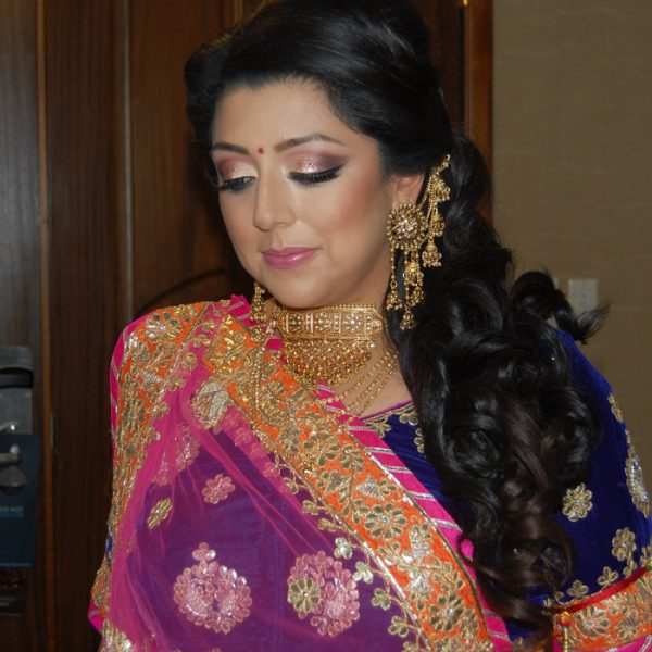 Sangeet hair and makeup for bride in Connecticut
