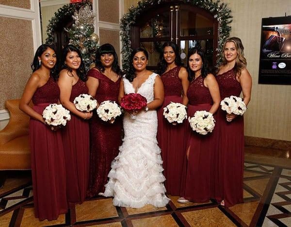 Winter wedding bridal makeup in Long Island