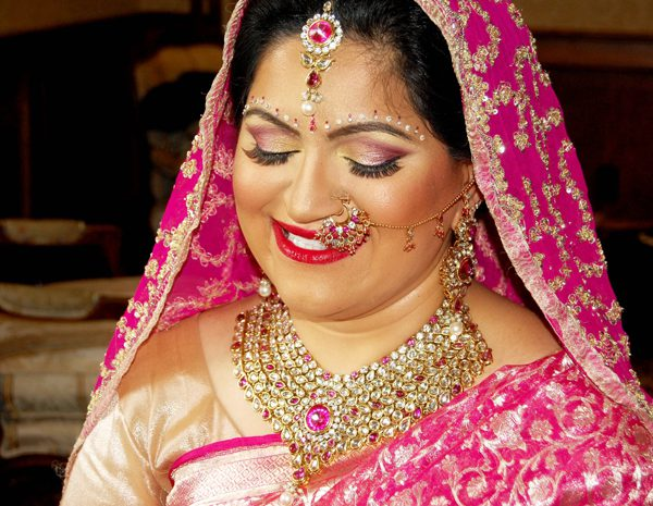 Indian bridal makeup and hair at the Bellport Country Club