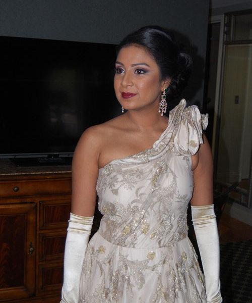 Bridal makeup and hair at Hilton Pearl River