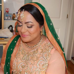 Beautiful bride wanted a soft makeup look on her wedding day - we obliged!