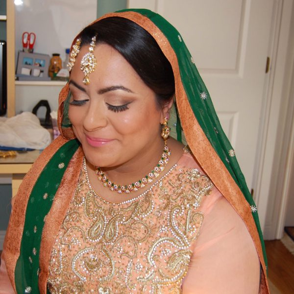 Soft glam on this Long Island bride on her wedding day - bridal makeup and hair by Naz Beauty