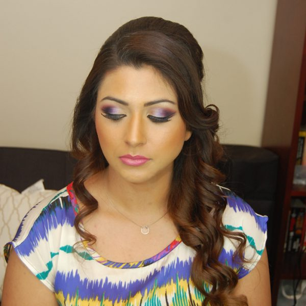 Gorgeous bold makeup for this client - hair and makeup by Naz Beauty