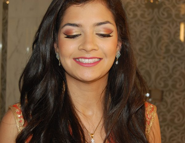 Soft glam on sister of the bride at engagement party at the Mandarin Oriental in NYC - makeup and hair by Naz Beauty