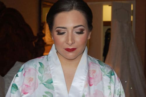 Bridal makeup and hair at East Wind in Wading River, NY