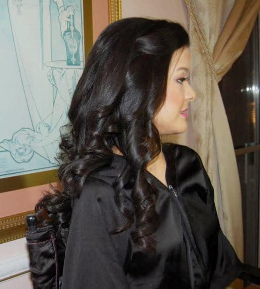 Bridal reception hair at Leonard's Palazzo in Great Neck, NY - hair and makeup by Naz Beauty