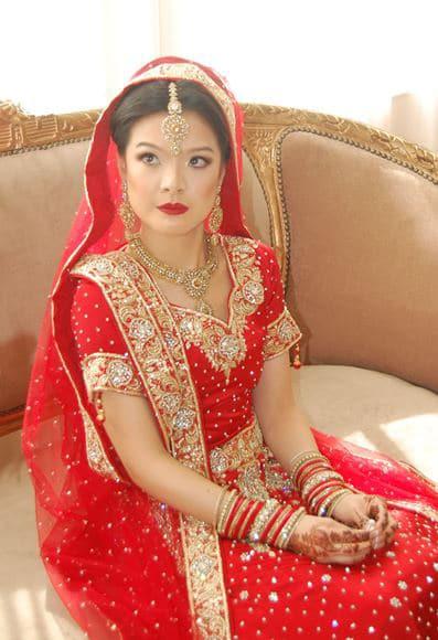 Indian bridal makeup at Leonard's Palazzo in Great Neck, NY