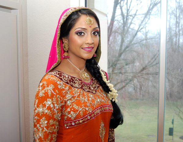 Pakistani mehndi bridal hair and makeup at the Hyatt Regency in Hauppauge
