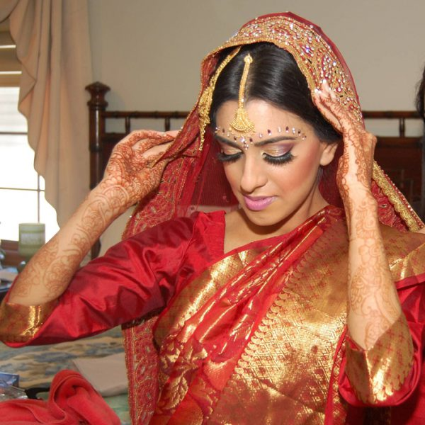 Bangladeshi bride on her wedding day in Long Island