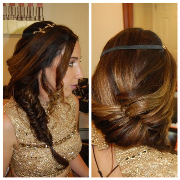 Bridal fishtail braid for this gorgeous bride at Bourne Mansion in Oakdale, NY - hair and makeup by Naz Beauty
