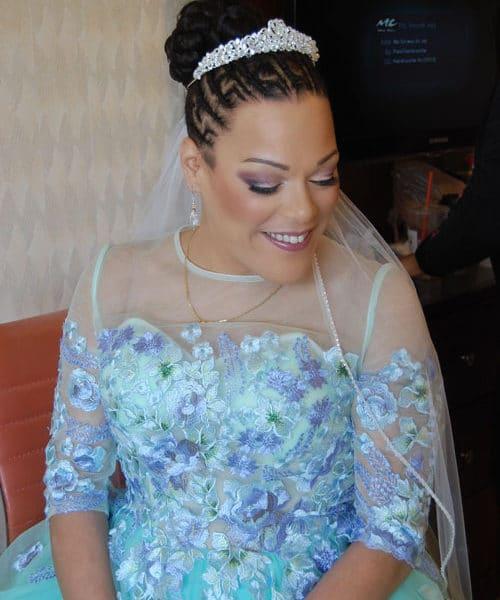 Bridal makeup in Viana Spa Hotel in Westbury, NY