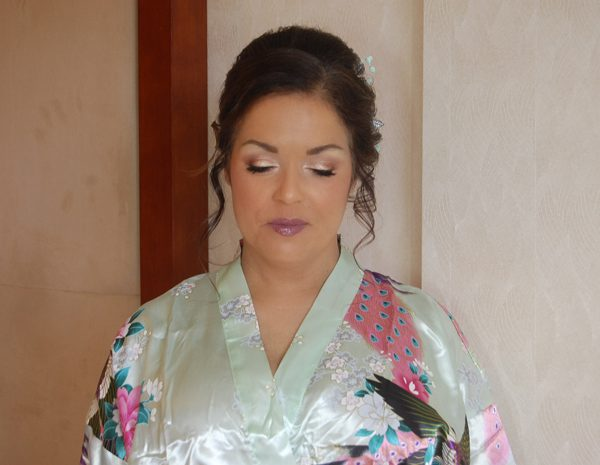 Natural glam makeup on this bridesmaid at the Viana Spa Hotel in Westbury, NY - wedding party makeup and hair by Naz Beauty