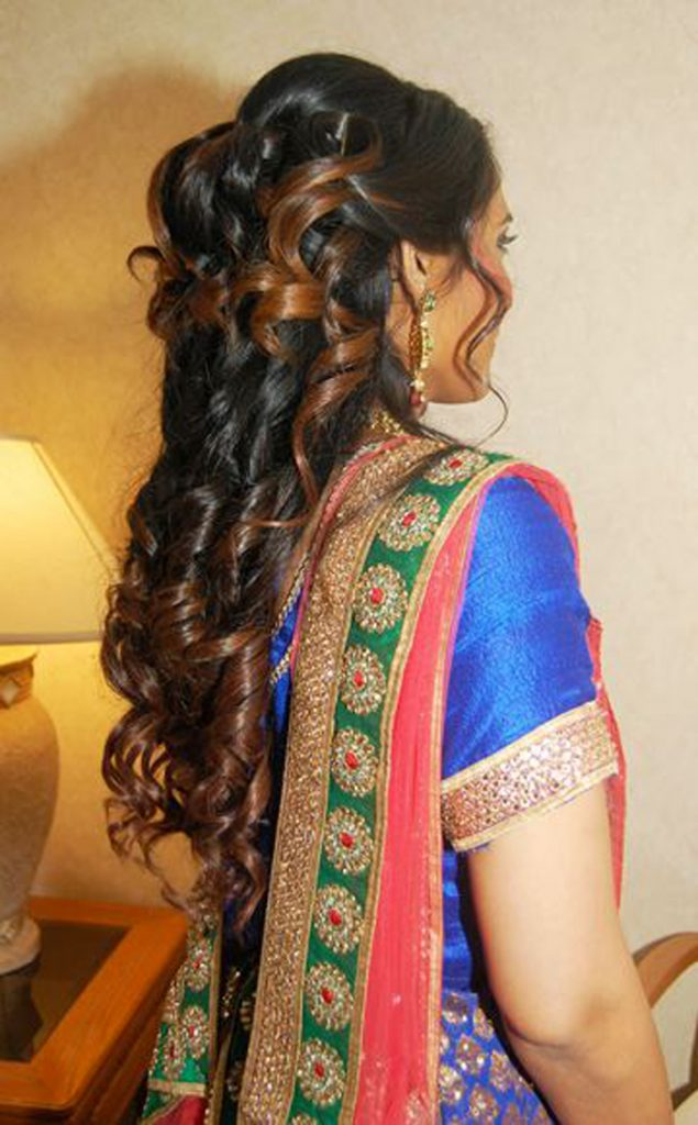 Bridesmaid hair at Indian wedding in NJ - hair and makeup by Naz Beauty