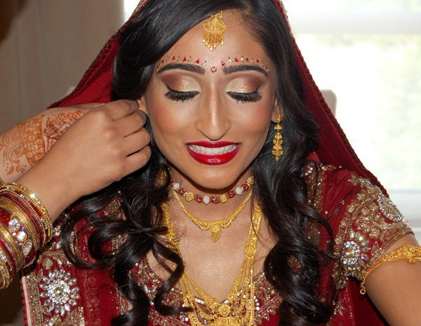 Indian bridal hair and makeup in Princeton, NJ