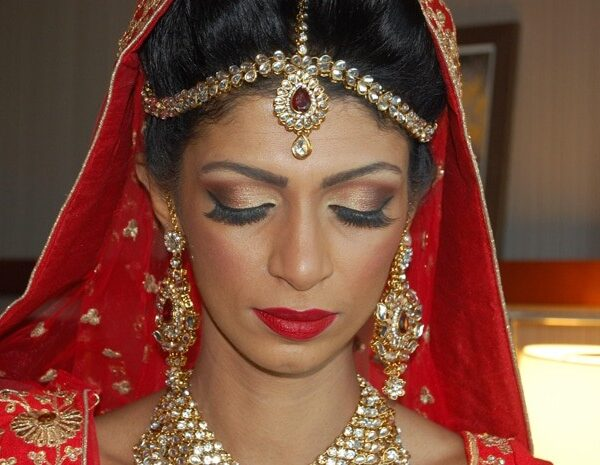 Indian bridal makeup and hair at Chateau Briand in Carle Place, NY