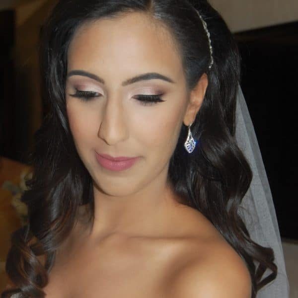 Beautiful Saira at her wedding - hair and makeup by Naz Beauty