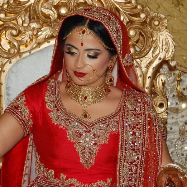 Punjabi bridal hair and makeup in NJ