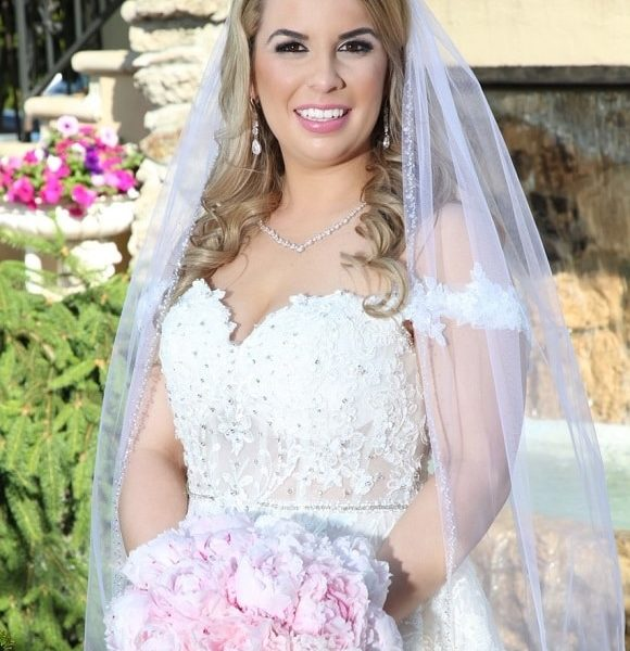 Long Island wedding at the beautiful Jericho Terrace - glam makeup and hair by the team at Naz Beauty