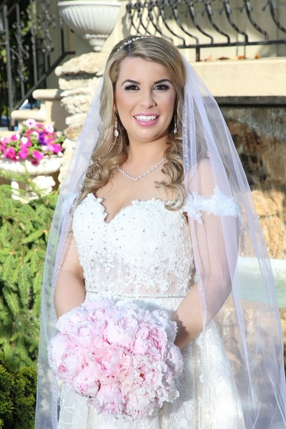 A beautiful summer wedding with this barbie doll bride, hair and makeup by me