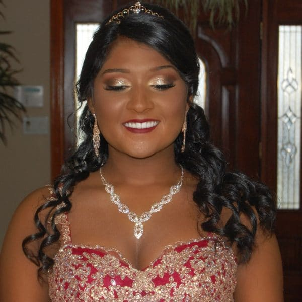 Our gorgeous Sweet 16 princess - hair and makeup by Naz Beauty