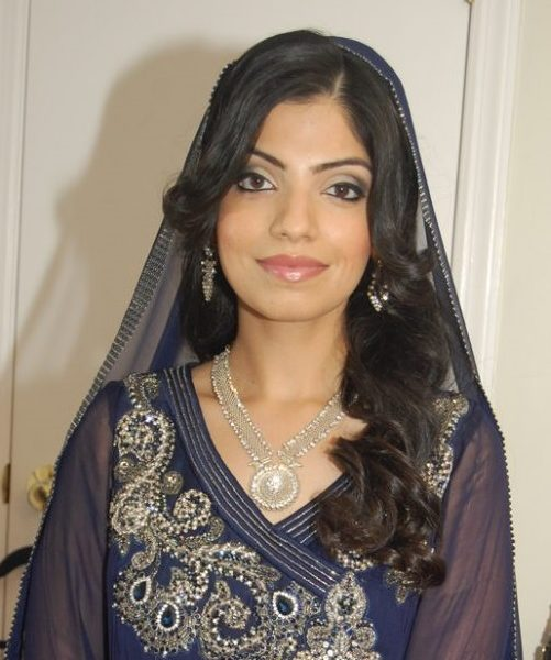 Lovely bride on her wedding day - hair and makeup simple yet elegant