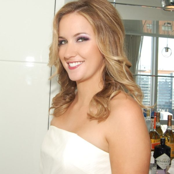 Glam makeup for bride at the Standard High Line hotel in NYC - bridal makeup and hair by Naz Beauty