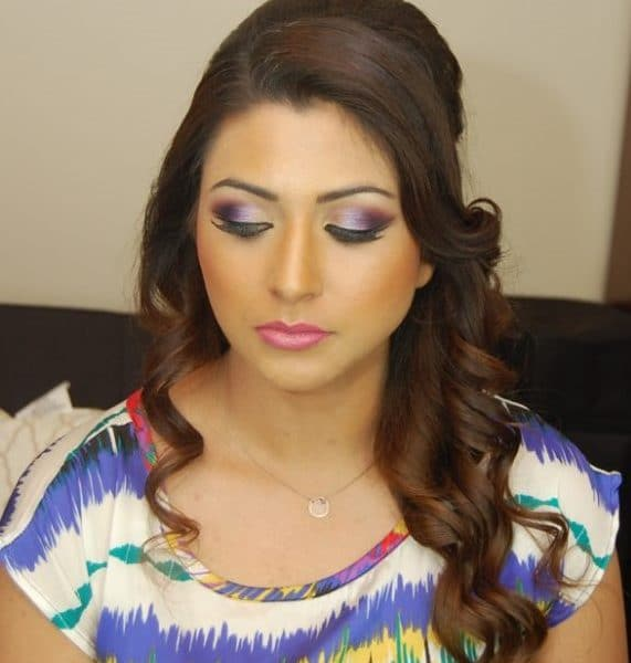 Gorgeous bold makeup for this client - hair and makeup by Naz Beauty.
