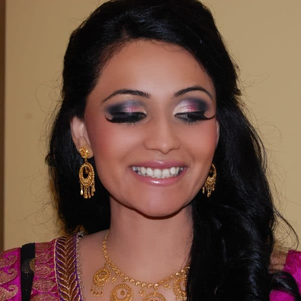 Bold eyes are always a crowd pleaser, especially at Indian weddings - hair and makeup by Naz Beauty